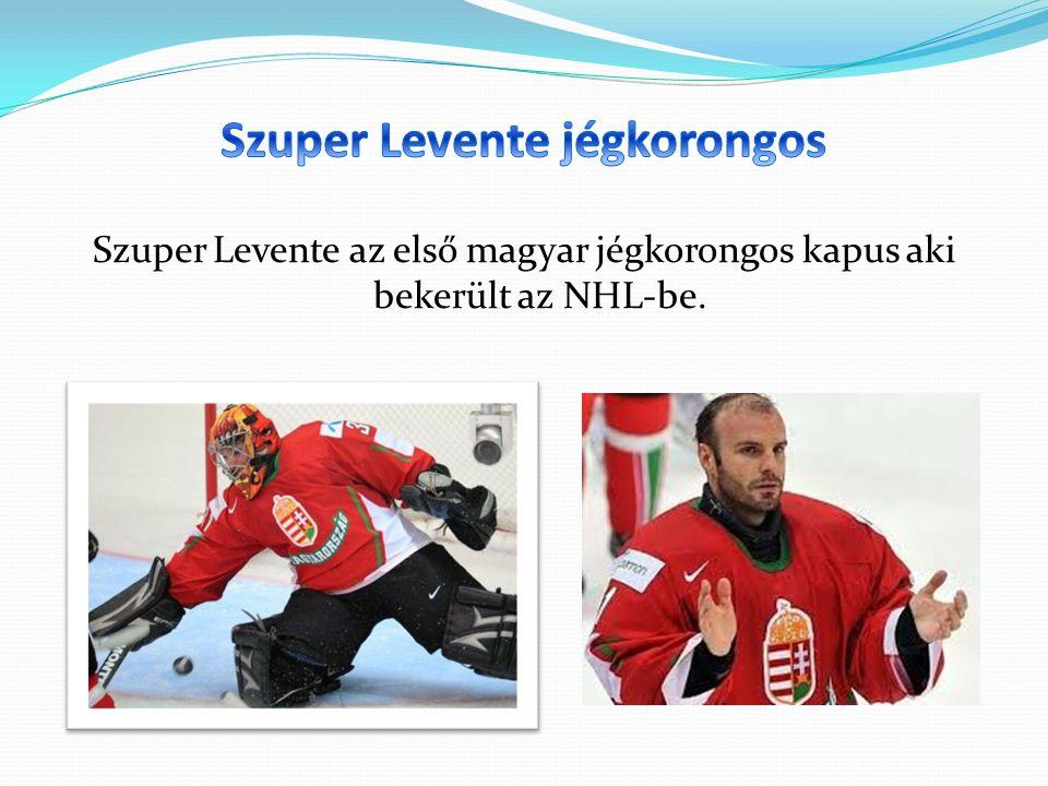 Szuper Levente az első magyar jégkorongos kapus aki bekerült az NHL-be.