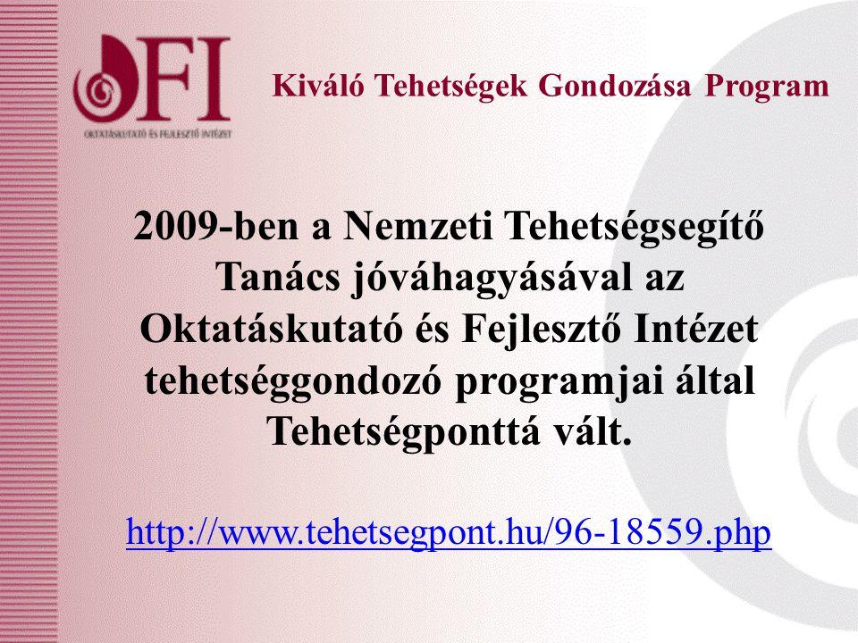 2009-ben a Nemzeti Tehetségsegítő Tanács jóváhagyásával az Oktatáskutató és Fejlesztő Intézet tehetséggondozó programjai által Tehetségponttá vált.