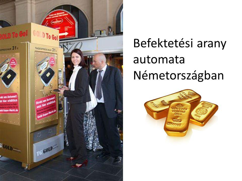 Befektetési arany automata Németországban