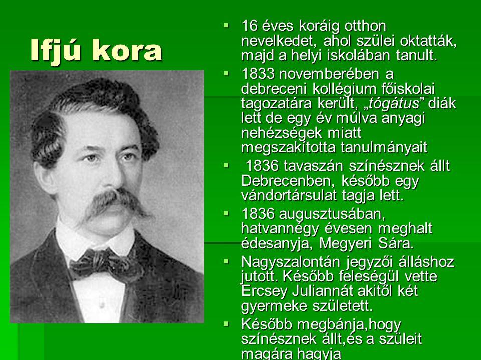 Ifjú kora  16 éves koráig otthon nevelkedet, ahol szülei oktatták, majd a helyi iskolában tanult.  1833 novemberében a debreceni kollégium főiskolai
