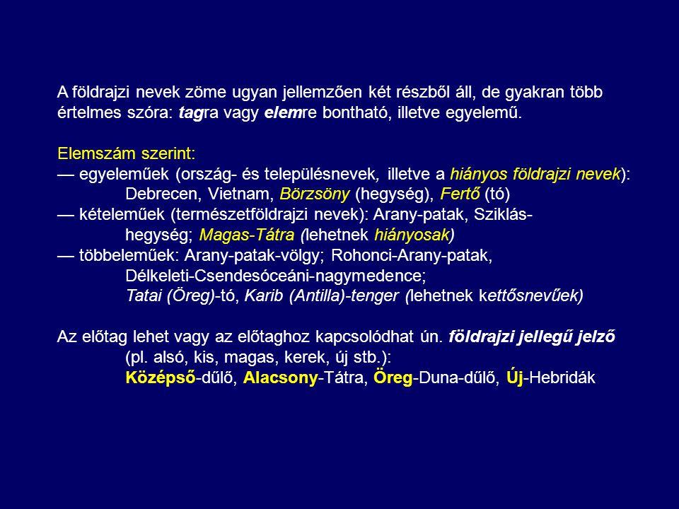 Az igazgatási, közterületi és intézménynevek írásmódja sok hasonlóságot mutat, ezért érdemes ezeket együtt elemezni.