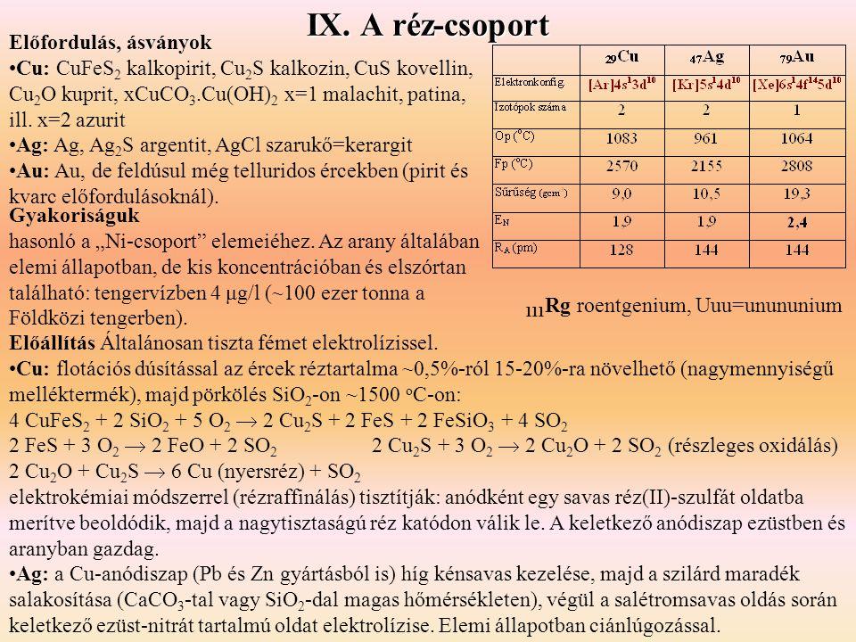 """Gyakoriságuk hasonló a """"Ni-csoport"""" elemeiéhez. Az arany általában elemi állapotban, de kis koncentrációban és elszórtan található: tengervízben 4 μg/"""