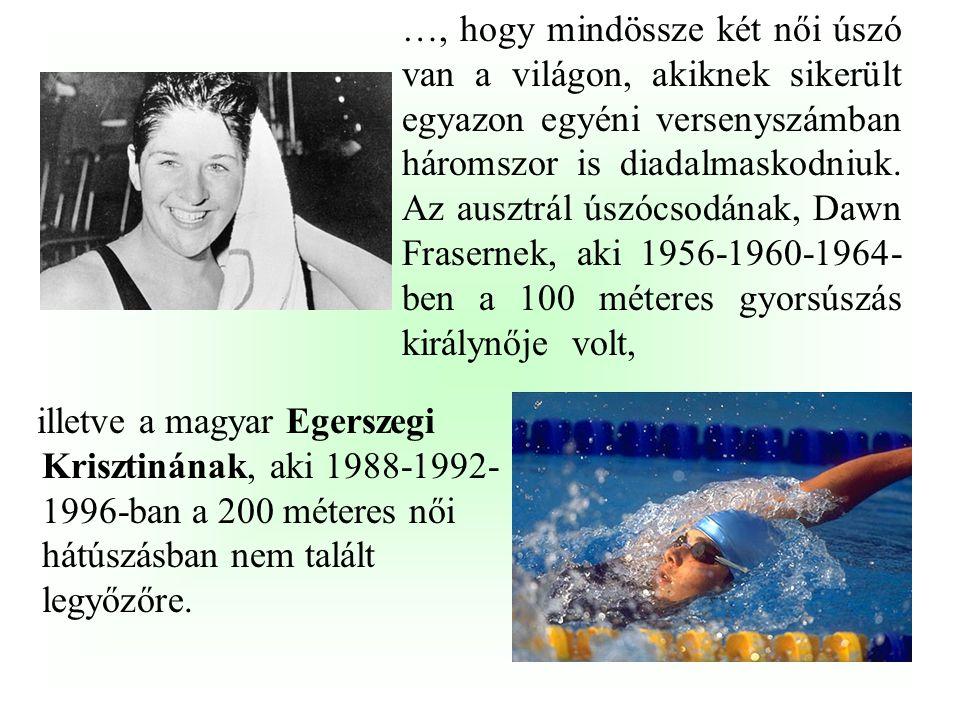 """… hogy a """"legtöbb idő két olimpiai győzelem között"""" versenyben egy magyar sportoló, …………………… a listavezető, aki 1932-ben és 28 (!) év elteltével 1960-"""