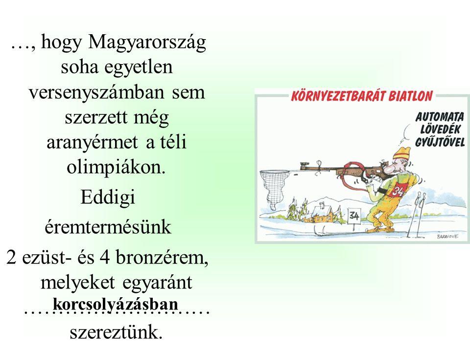 …, hogy a magyar sportolók már az első, athéni játékokon (1896) is kitettek magukért, hiszen Hajós Alfréd révén 100 és 1200 méteres gyorsúszás két ara