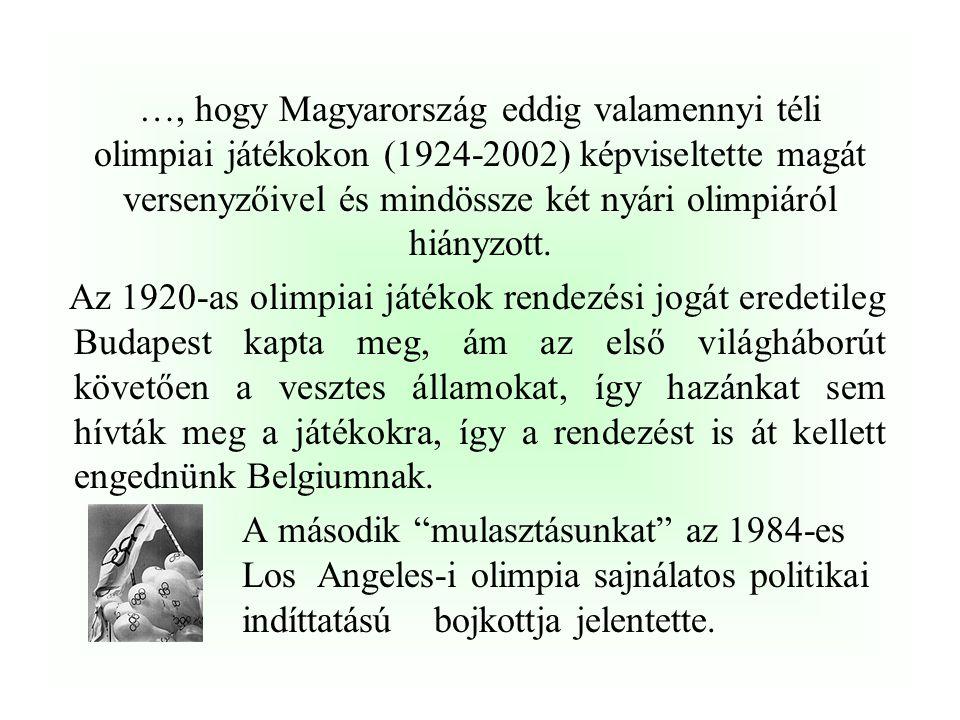 …, hogy a világon mindössze három amatőr ökölvívó van, aki képes volt három olimpiai bajnoki címet is gyűjteni. Teofilo Stevenson (1972,1976,1980) Fel