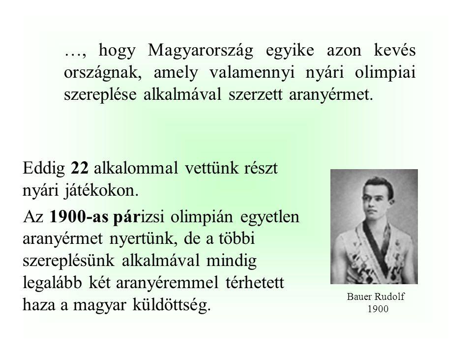 …, hogy Magyarország eddig valamennyi téli olimpiai játékokon (1924-2002) képviseltette magát versenyzőivel és mindössze két nyári olimpiáról hiányzot