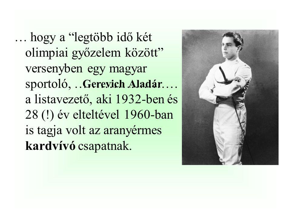 …, hogy a magyar sportolók már az első, athéni játékokon (1896) is kitettek magukért, hiszen Hajós Alfréd révén 100 és 1200 méteres gyorsúszás két aranyérmet is szereztek.