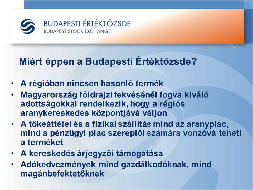Miért éppen a Budapesti Értéktőzsde? A régióban nincsen hasonló termék Magyarország földrajzi fekvésénél fogva kiváló adottságokkal rendelkezik, hogy