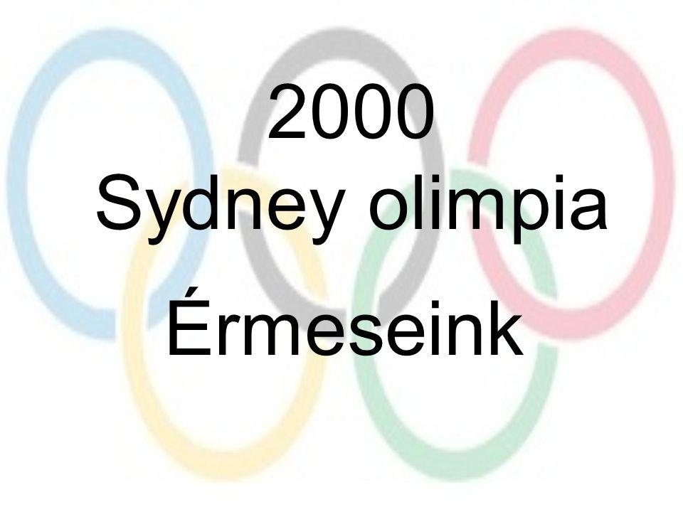 2000 Sydney olimpia Érmeseink