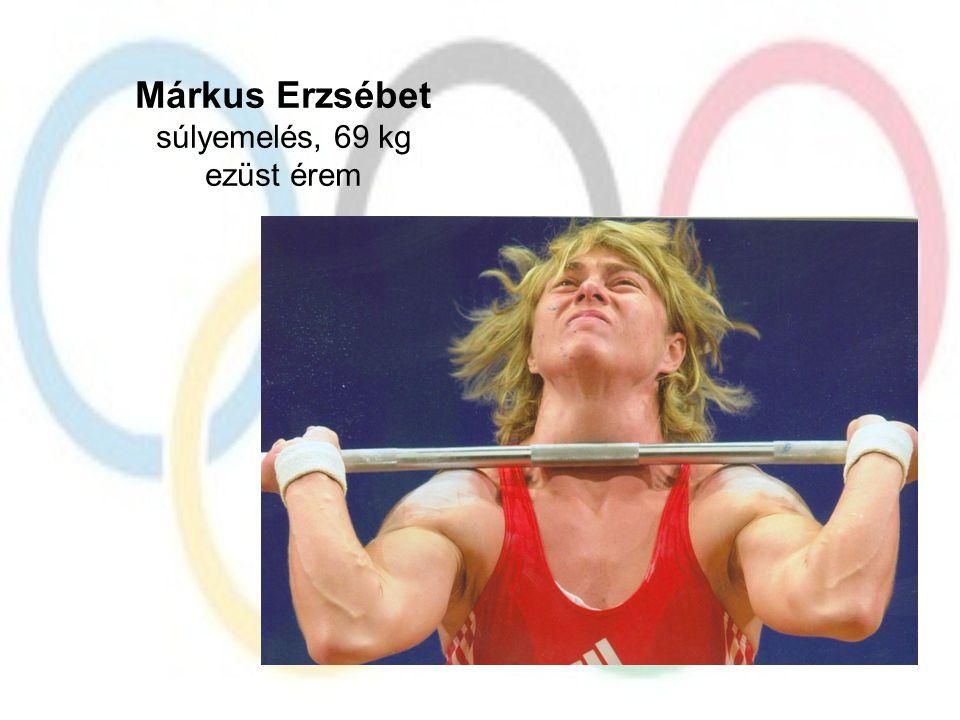 Márkus Erzsébet súlyemelés, 69 kg ezüst érem