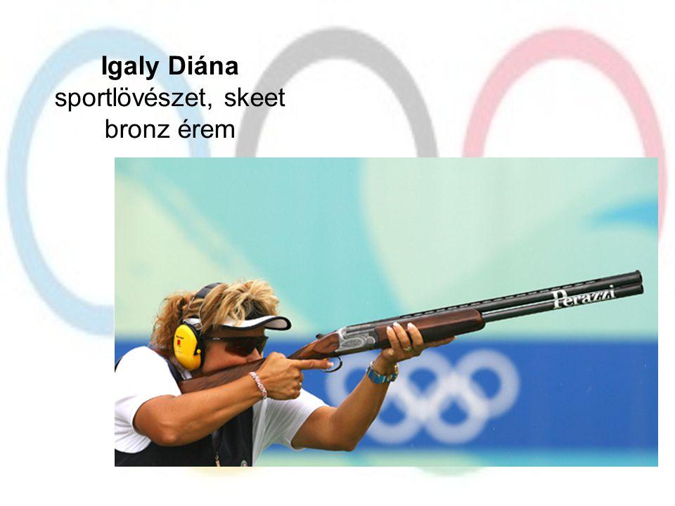 Igaly Diána sportlövészet, skeet bronz érem