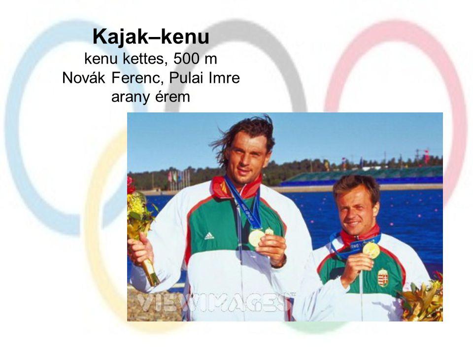 Kajak–kenu kenu kettes, 500 m Novák Ferenc, Pulai Imre arany érem