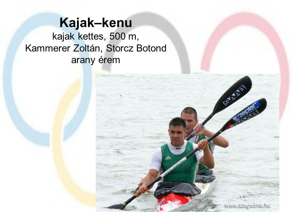 Kajak–kenu kajak kettes, 500 m, Kammerer Zoltán, Storcz Botond arany érem