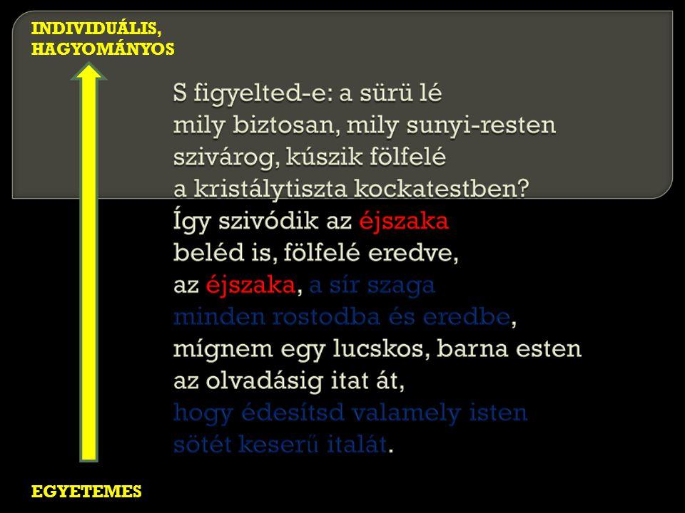 EGYETEMES INDIVIDUÁLIS, HAGYOMÁNYOS