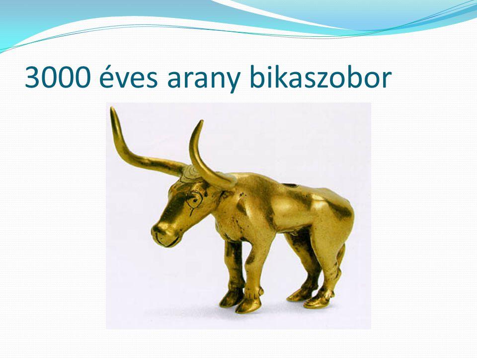 3000 éves arany bikaszobor