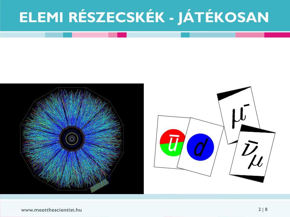 www.meetthescientist.hu 2 | 8 ELEMI RÉSZECSKÉK - JÁTÉKOSAN