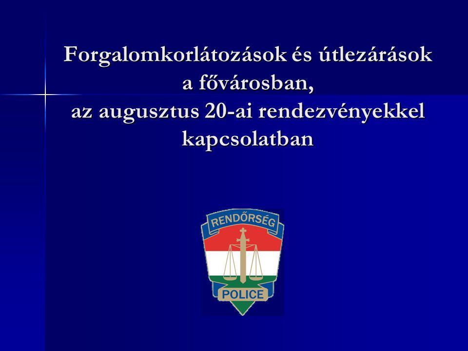 A BRFK kéri a rendezvényekre látogatókat, hogy vegyék igénybe a BKV tömegközlekedési eszközeit, melyek menetrendjéről részletesen tájékozódhatnak a www.bkv.hu internetes honlapon.