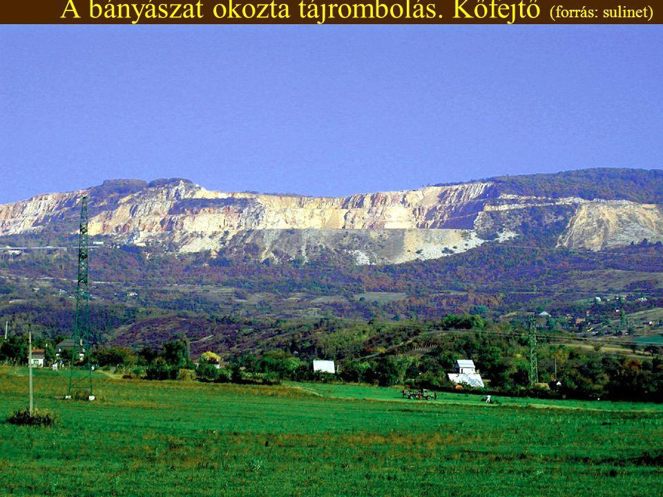 8:06 A bányászat okozta tájrombolás. Kőfejtő (forrás: sulinet)
