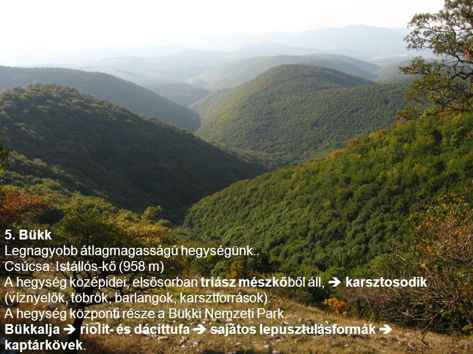 5.Bükk Legnagyobb átlagmagasságú hegységünk..