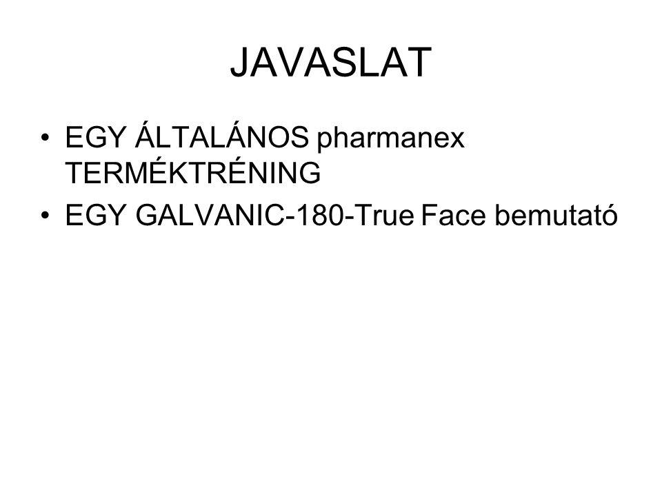 JAVASLAT EGY ÁLTALÁNOS pharmanex TERMÉKTRÉNING EGY GALVANIC-180-True Face bemutató