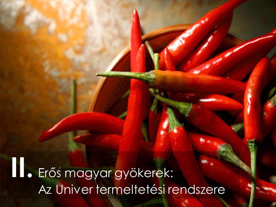 II. Erős magyar gyökerek: Az Univer termeltetési rendszere
