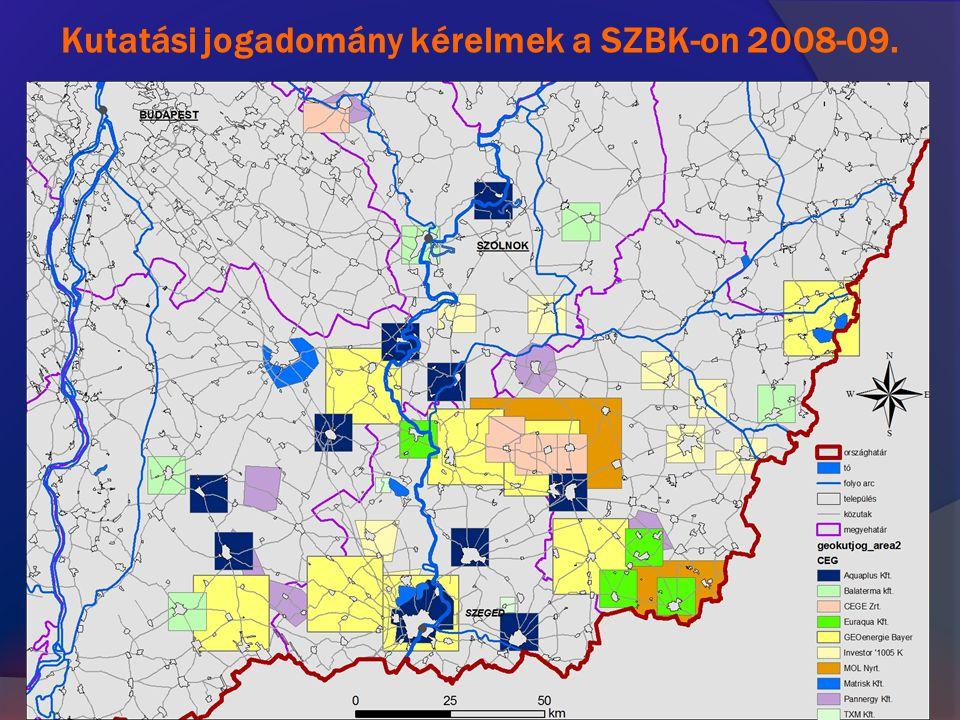 Kutatási jogadomány kérelmek a SZBK-on 2008-09.