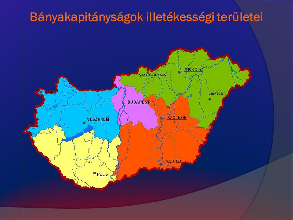 Jogszabályok  1993.évi XLVIII. törvény a bányászatról (Bt.)  203/1998.