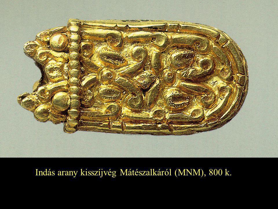 Indás arany kisszíjvég Mátészalkáról (MNM), 800 k.