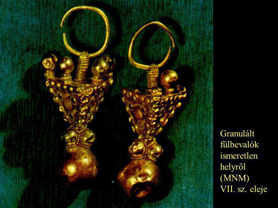 Granulált fülbevalók ismeretlen helyről (MNM) VII. sz. eleje