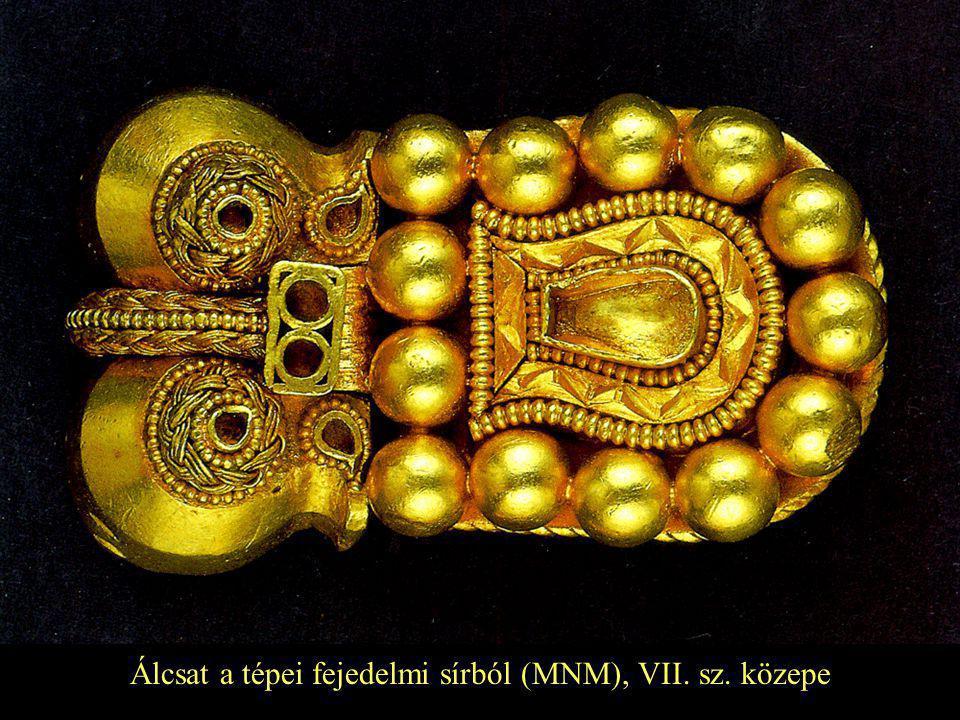 Álcsat a tépei fejedelmi sírból (MNM), VII. sz. közepe