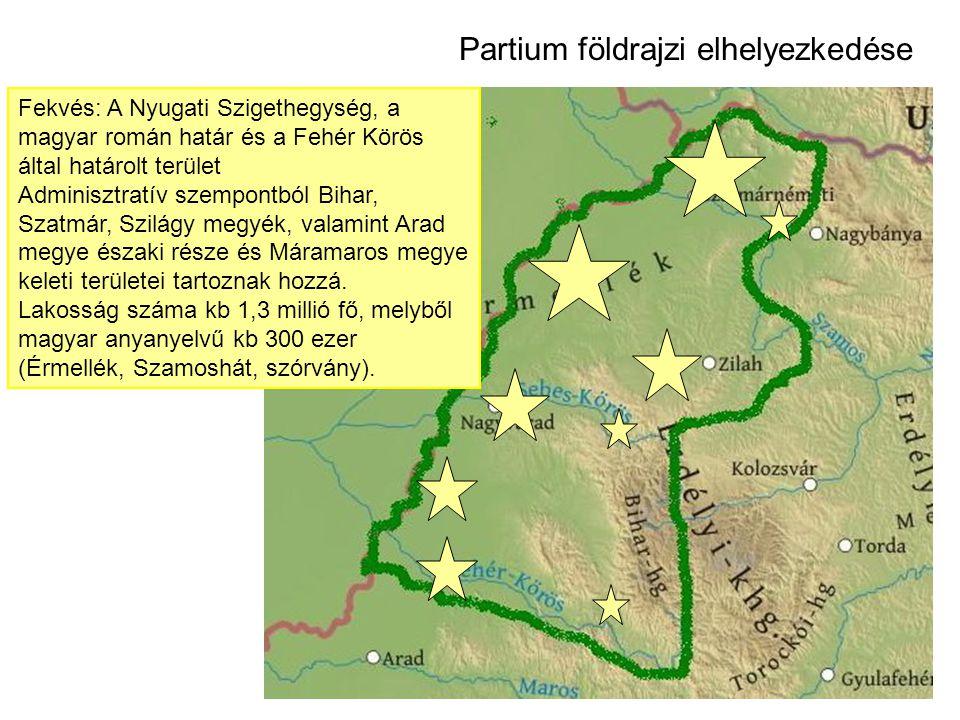 Fekvés: A Nyugati Szigethegység, a magyar román határ és a Fehér Körös által határolt terület Adminisztratív szempontból Bihar, Szatmár, Szilágy megyék, valamint Arad megye északi része és Máramaros megye keleti területei tartoznak hozzá.