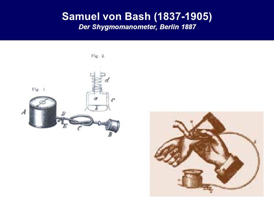 Samuel von Bash (1837-1905) Der Shygmomanometer, Berlin 1887