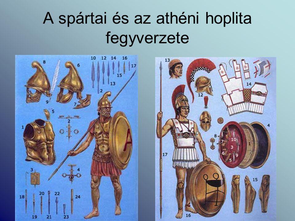 A spártai és az athéni hoplita fegyverzete