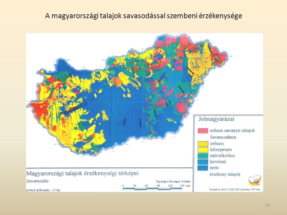 A magyarországi talajok savasodással szembeni érzékenysége 19