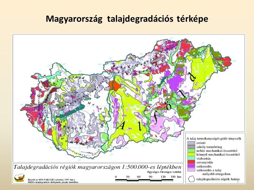 Magyarország talajdegradációs térképe 5