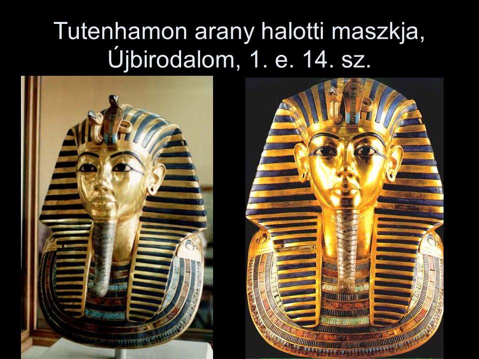 Tutenhamon arany halotti maszkja, Újbirodalom, 1. e. 14. sz.