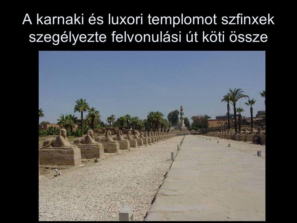 A karnaki és luxori templomot szfinxek szegélyezte felvonulási út köti össze
