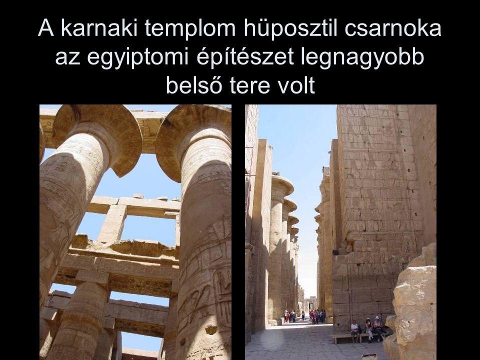 A karnaki templom hüposztil csarnoka az egyiptomi építészet legnagyobb belső tere volt