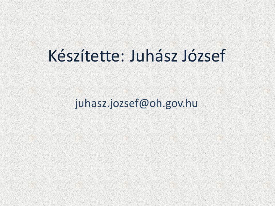 Készítette: Juhász József juhasz.jozsef@oh.gov.hu