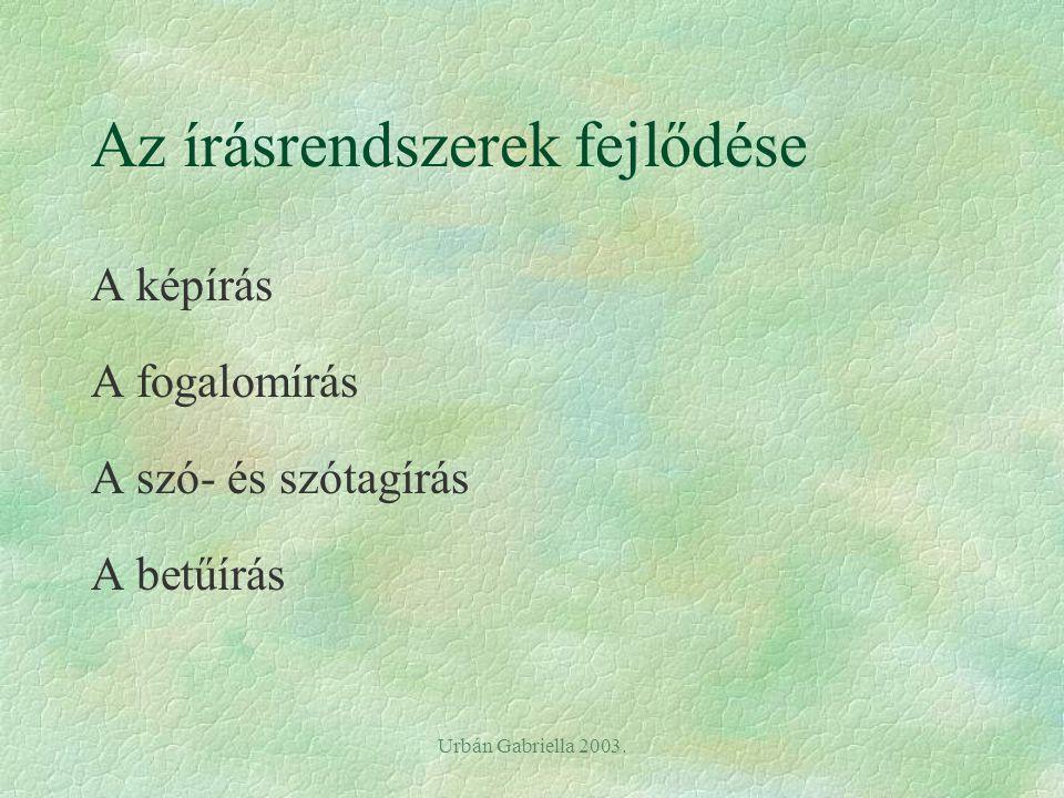 Urbán Gabriella 2003. 6. A barlangrajzok - keletkezés: 30ezertől - funkciója: ismeretátadás rítuálék formájában -Mas d' Azili kavicsok