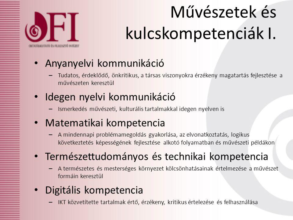 Művészetek és kulcskompetenciák I. Anyanyelvi kommunikáció – Tudatos, érdeklődő, önkritikus, a társas viszonyokra érzékeny magatartás fejlesztése a mű