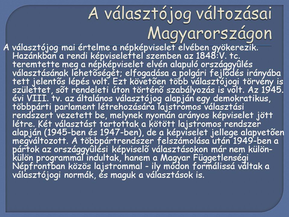  Magyarországon 1989 óta működik polgári demokrácia.