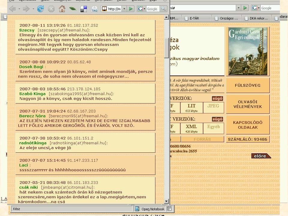 13. MultiMédia az Oktatásban konferencia BMF, 2007. augusztus 23-24. Magyar Elektronikus Könyvtár http://mek.oszk.hu Digitalizált vagy digitálisan szü