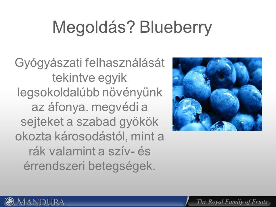 Megoldás.Blueberry Gyógyászati felhasználását tekintve egyik legsokoldalúbb növényünk az áfonya.
