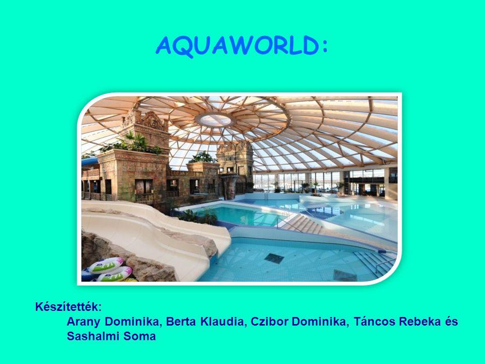 AQUAWORLD: Készítették: Arany Dominika, Berta Klaudia, Czibor Dominika, Táncos Rebeka és Sashalmi Soma