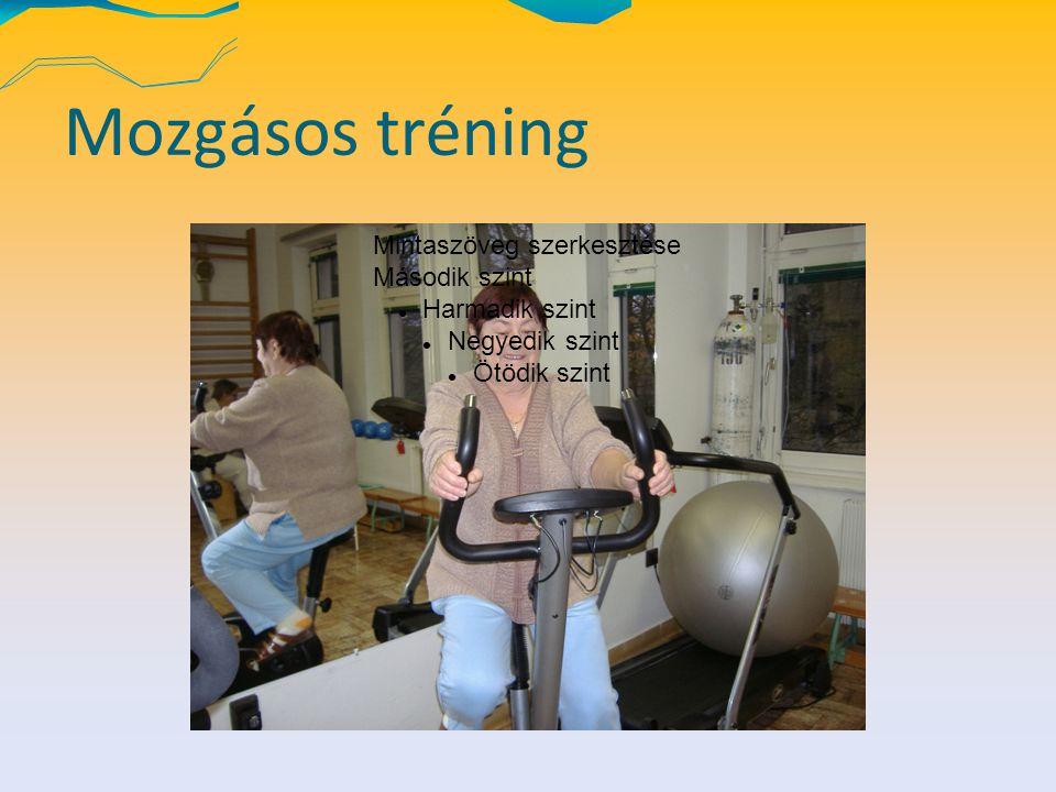 Mozgásos tréning Mintaszöveg szerkesztése Második szint Harmadik szint Negyedik szint Ötödik szint
