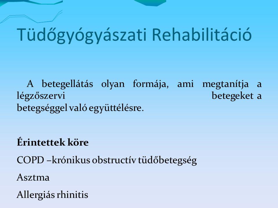 Tüdőgyógyászati Rehabilitáció A betegellátás olyan formája, ami megtanítja a légzőszervi betegeket a betegséggel való együttélésre.