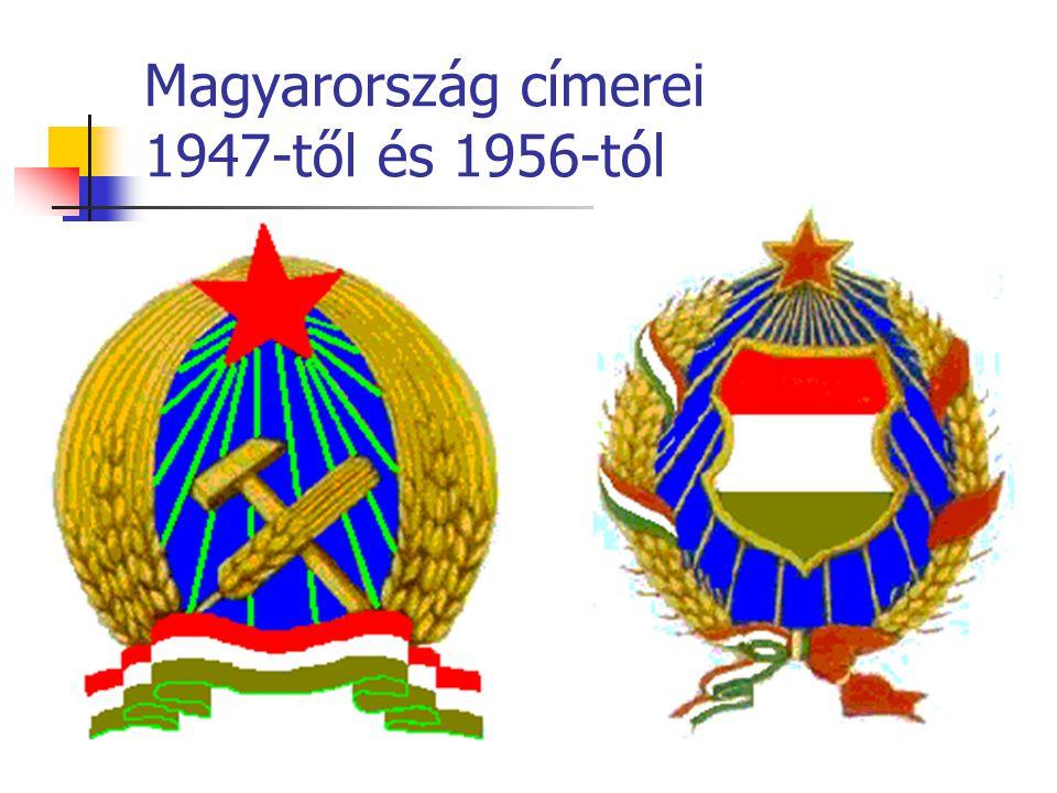 Magyarország címerei 1947-től és 1956-tól
