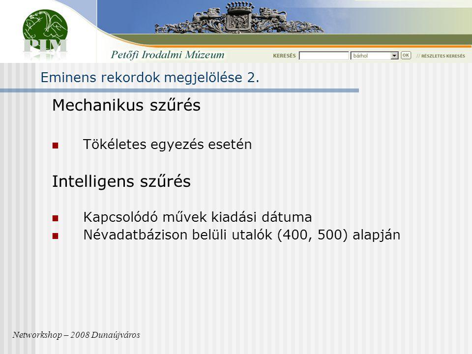 Eminens rekordok megjelölése 2.