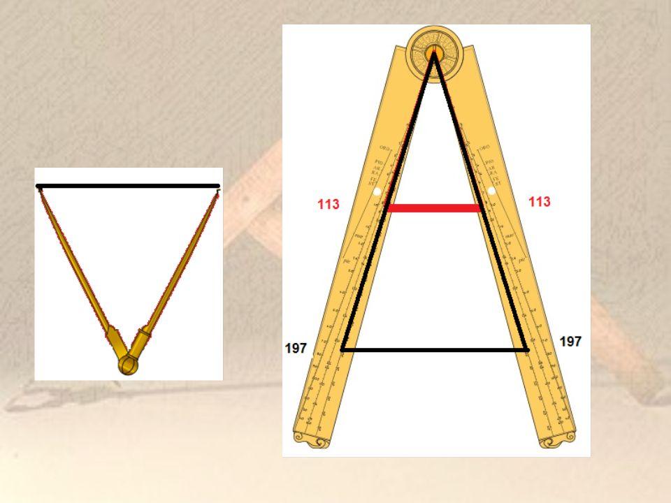 A geometriai vonal Felvétele: (nincs benne a m ű ben) A tengelyt ő l kiinduló félegyenest rajzolunk.
